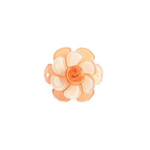 Trop Punch 3D Flower Link 53mm Gardenia Peach/Silk 1pc image