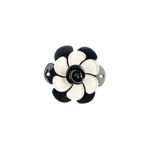 Trop Punch 3D Flower Link 53mm Gardenia 1pc Black/White image