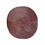 "RESIN ROUND BEADS approx.16mm 8""STR.OP.BURGUNDY R/B (13pcs) image"