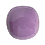 "RESIN ROUND BEADS approx.16mm 8""STR.OP.PURPLE (13pcs) image"