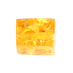 "RESIN approx.16mm CUBE CRACKLE 8""STRAND TR.AMBER (12pcs) image"