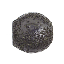 "RESIN BEAD ROUND CUT 20mm 8"" STR.(approx.10pcs) BURNT BLACK image"