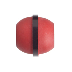 "RESIN BEAD BARREL 18x20mm8""STR (approx.11pcs) RED/BLACK image"