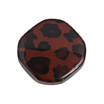 "RESIN IRREG.RD.FLAT 28mm 8""STR DALMATION (7pcs) DK.BRWN/BROWN image"