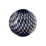 Checker Beads Round 22mm Silver/Black aprox 7pcs/strand image
