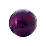 Checker Beads Round 22mm Fuchsia/Black aprox 7pcs/stran image