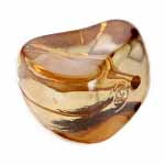 ACRYLIC BEAD SMOOTH NUGGETSHAPE 19mm BROWN image