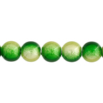 MIRACLE BEADS 6MM ROUN GREEN 2-TONE image