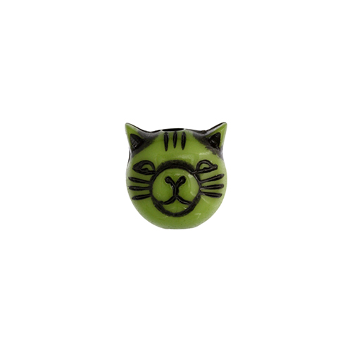 ACRYLIC CAT BEAD 9MM GREEN image