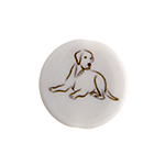 BEAD DISC 19mm Dog image