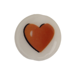 BEAD DISCS 19mm RED HEART image