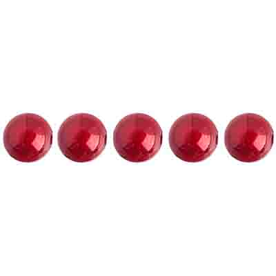 Miracle Bead Round 6mm Transparent Spanish Red image