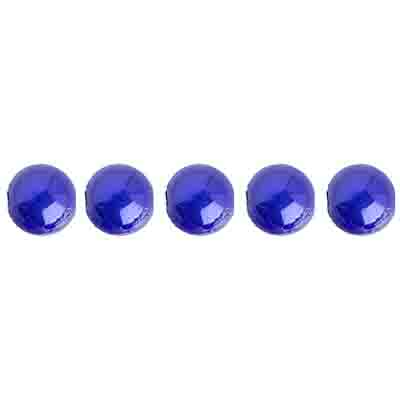 Miracle Bead Round 6mm Transparent Peacock Blue image