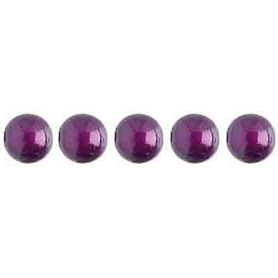 Miracle Bead Round 6mm Transparent Plum image