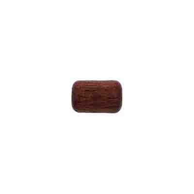 WOOD BEAD CYLINDER LG.HOLE 6x9mm DK. BROWN image