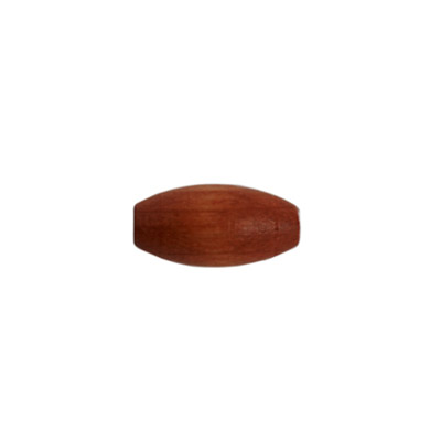 WOOD BEAD OVAL 7x14mm POLISHED DARK BROWN image