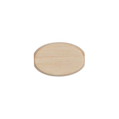 WOOD FLAT OVAL 10/15MM NATURAL LGE.HOLE 2.7MM image