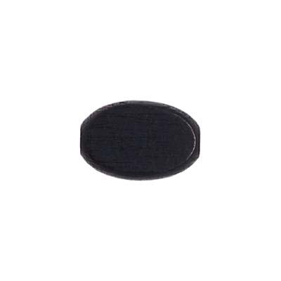 WOOD FLAT OVAL 10/15MM BLACK LGE.HOLE 2.7MM image