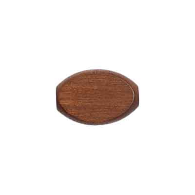 WOOD FLAT OVAL 10/15MM BROWN  LGE.HOLE 2.7MM image