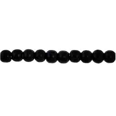 Wood Bead Round 4mm Black image