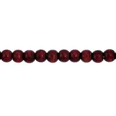 Euro Wood Bead Round 4mm Mahogany image