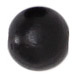 WOODEN BEAD ROUND 6mm BLACK image