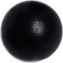 WOODEN BEAD ROUND 40mm BLACK POLISHED W/3.4mm HOLE image