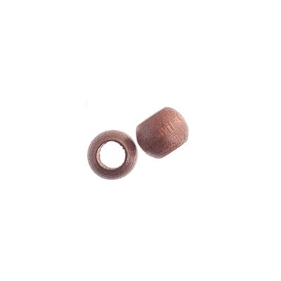 Wood Beads - Round Large Hole 8x6.5mm Dark Brown image