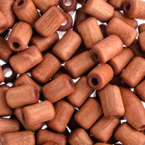 Wooden Beads Cylinder 6x9mm Light Brown image