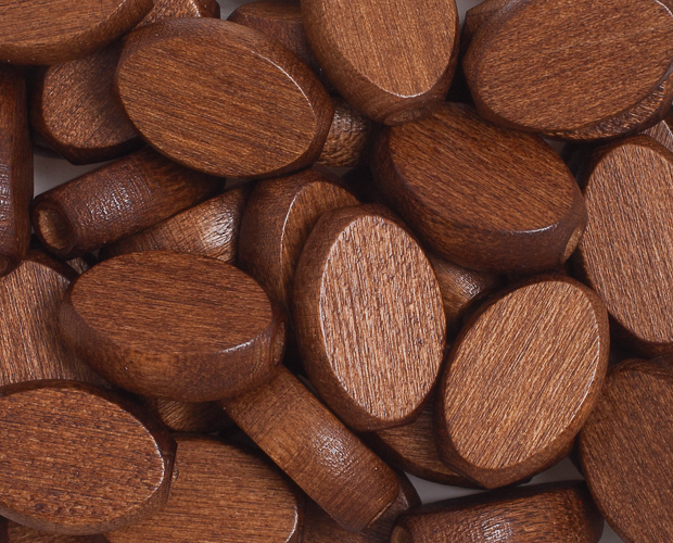 Euro Wood Beads Flat Oval 10x15mm Dark Brown image
