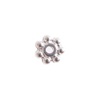 METAL SPACER BEAD DAISY 5x1mm SILVER LF/NF image