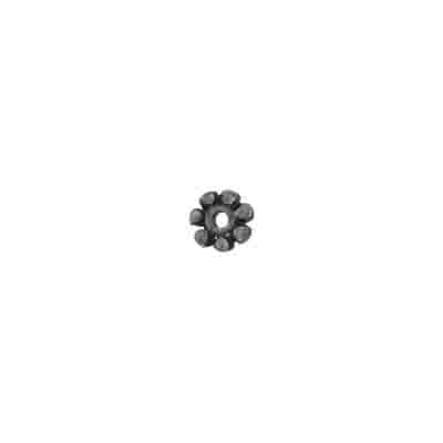 METAL BEAD FLOWER SHAPE 5x1mm ANTIQUE SILVER N/F image
