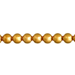METAL BEAD ROUND 5mm w/2mm HOLE GOLD L/F N/F image