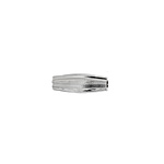 METAL BEAD PLEATED TUBE 13x4MM SILVER LF/NF image