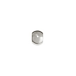METAL BEAD OVAL 5x7MM NICKEL image