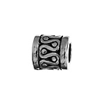 METAL BARREL BEAD 8x8MM ANTIQUE SILVER LEAD FREE image