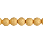 Bead Round Stardust 6mm Gold LF/NF image