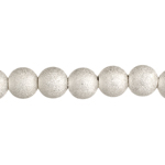 Bead Round Stardust 6mm Silver LF/NF image