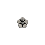 METALIZED BEAD VERTICAL LG. DAISY 8MM ANTIQUE SILVER image