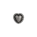 METALIZED BEADS HEART FANCY 10mm ANTIQUE SILVER image