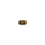 BEADS METALIZED RIBBED RICE SHAPE 3.5X6MM ANT.GOLD image