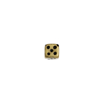BEADS METALIZED DICE 5MM ANT. GOLD image