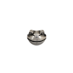 BEADS METALIZED FROG FACE(HOLE SIDEWAYS)9MM ANT.SILVER image