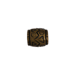 METALIZED BEAD 7x9mm BARREL SHAPE ANTIQUE BRASS image