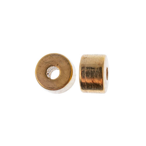 METALIZED HEISHI BEAD 2x4MM GOLD image