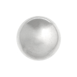 METALIZED BEAD w/ SS. COATING ROUND 18mm SILVER image