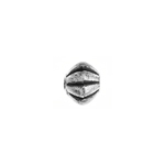 METALIZED BEAD w/SS.COATING 7x8mm Rondell AntiqueSilver image