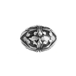METALIZED BEAD w/SS.COATING 14x10mmFleurs de Lys Ant Silver image