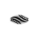 METALIZED BEAD w/SS.COATING 13x6mm Oval Antique Silver image