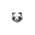 METALIZED BEAD w/SS.COATING 9mm Panda Head Antique Silver image